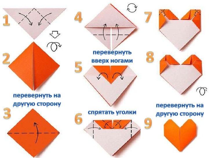 Как сделать сердце из бумаги оригами для начинающих