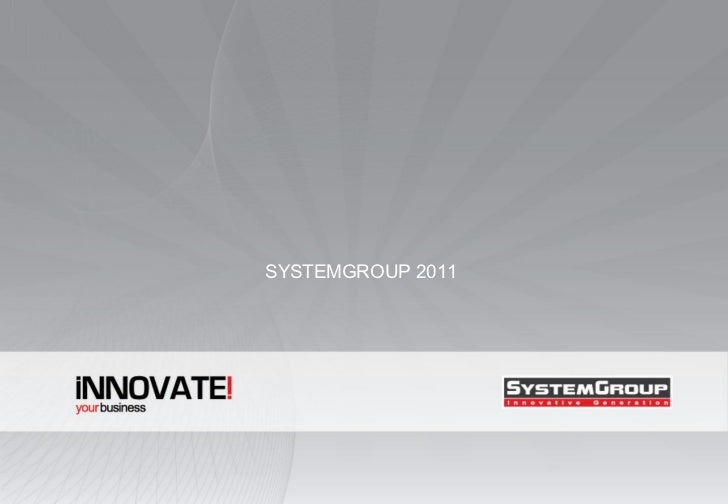 SYSTEMGROUP 2011