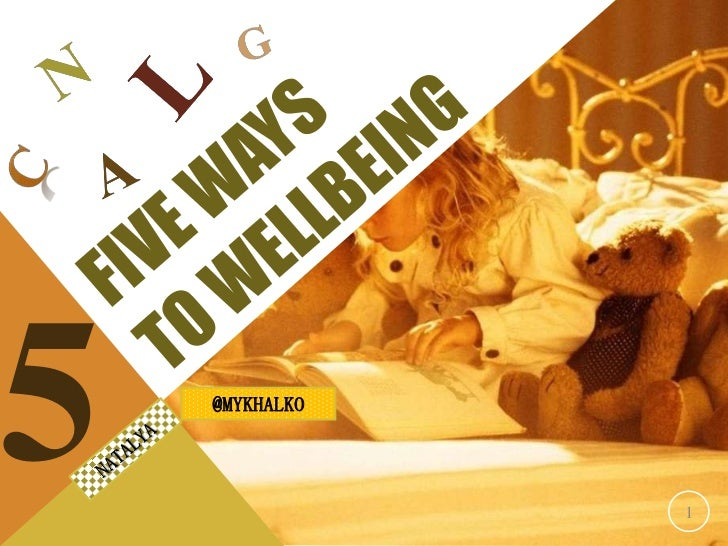 Ways to Wellbeing