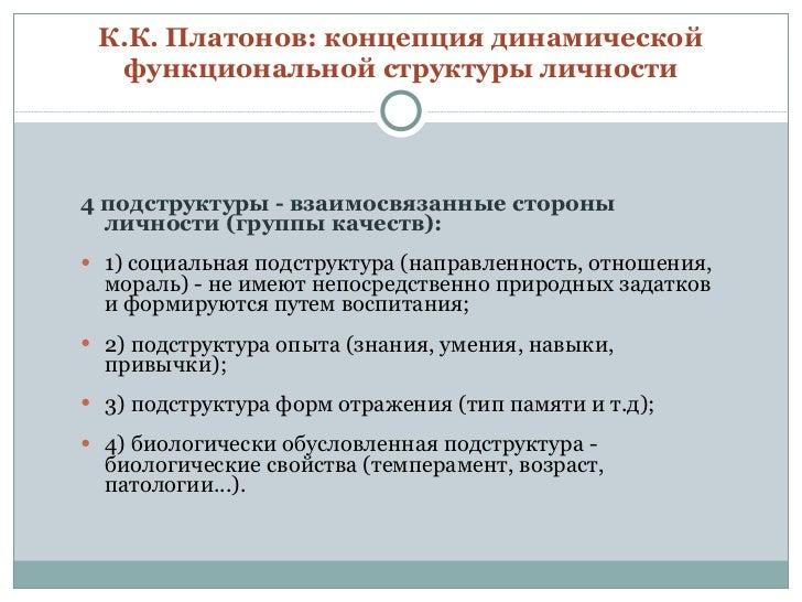 К.К. Платонов: концепция