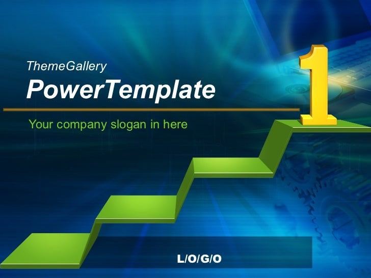ThemeGallery   PowerTemplate Your company slogan in here