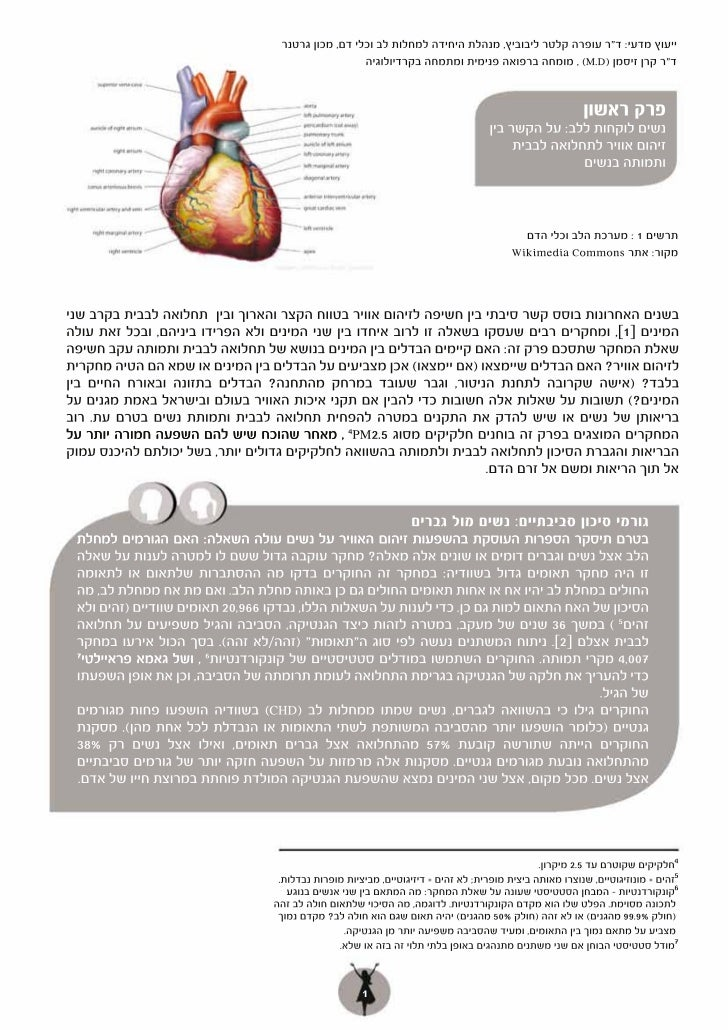 זיהום אוויר ומחלות לב בנשים