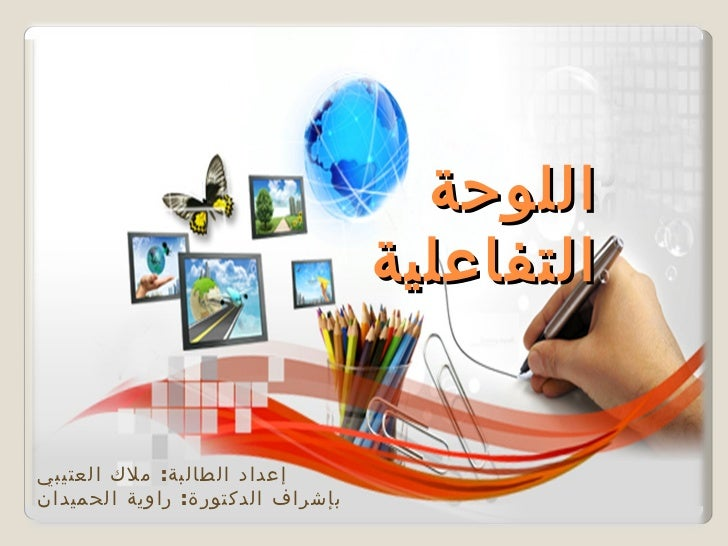 اللوحة                                  التفاعليةإعداد الطالبة: ملك العتيبيبإشراف الدكتورة: راوية الحميدان