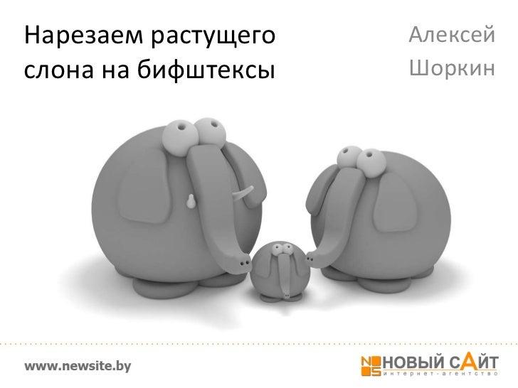 Алексей Шоркин. Нарезаем растущего слона на бифштексы
