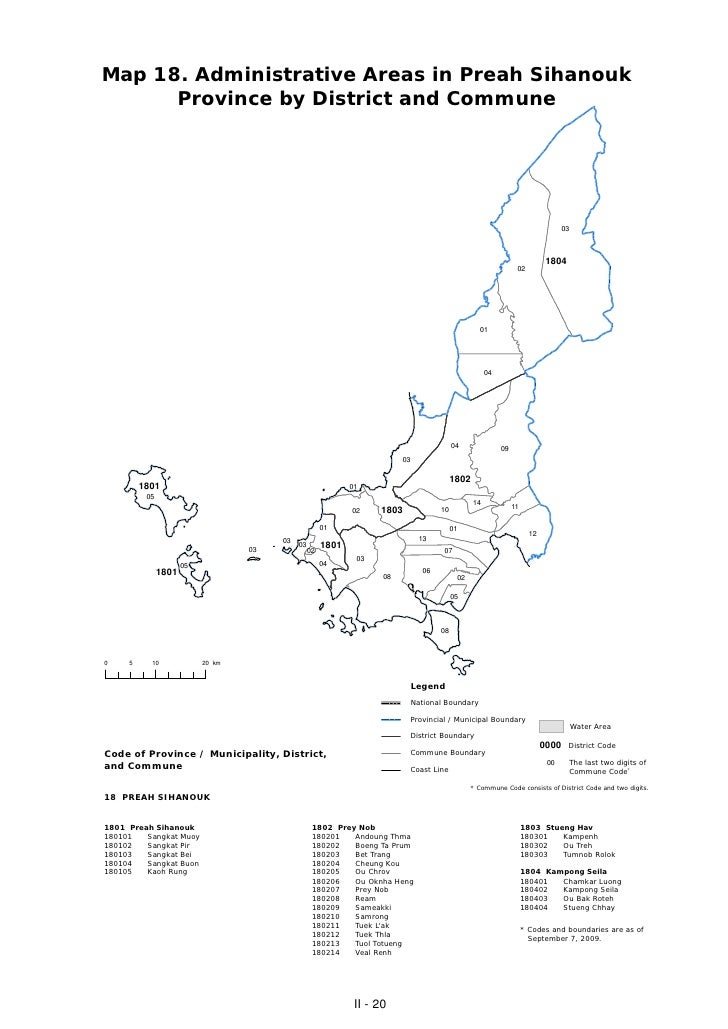 Map 18. Administrative Areas in Preah Sihanouk      Province by District and Commune                                      ...