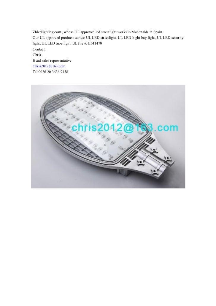 UL approved series: LED streetlight, led high bay light, LED security light, LED tube light