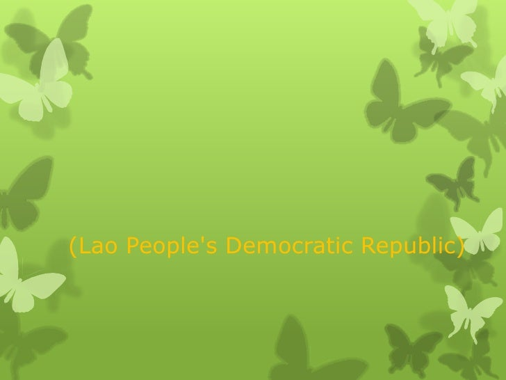 (Lao Peoples Democratic Republic)
