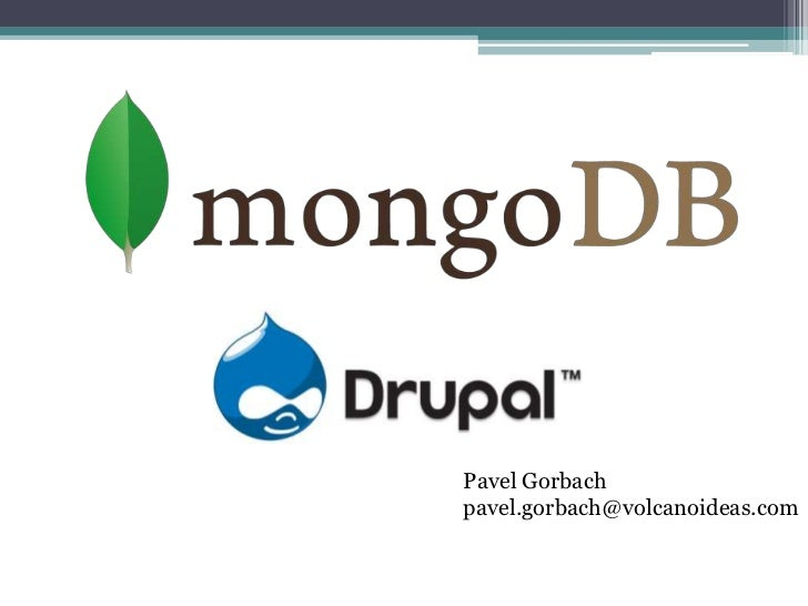 MongoDB & Drupal