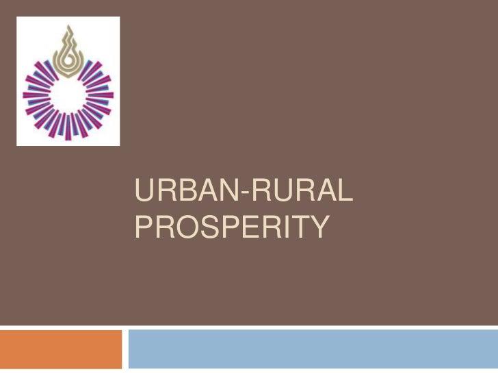 URBAN-RURALPROSPERITY
