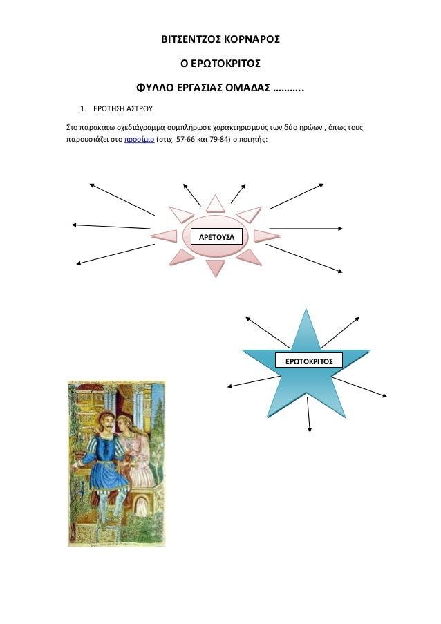 ΒΙΣΕΝΣΖΟ ΚΟΡΝΑΡΟ                             Ο ΕΡΩΣΟΚΡΙΣΟ                  ΦΤΛΛΟ ΕΡΓΑΙΑ ΟΜΑΔΑ ………..   1. ΕΡΩΣΗΗ Α...
