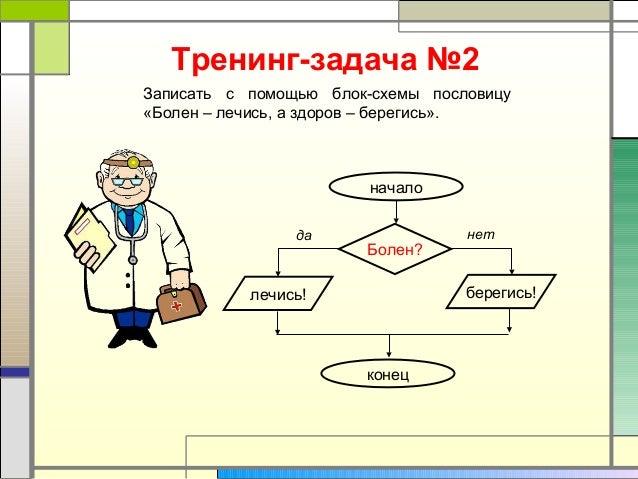 блок-схемы пословицу«Болен