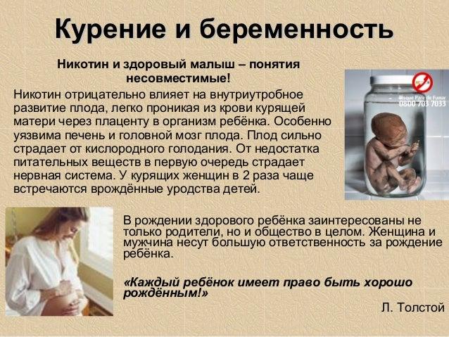 Вред от курения беременных 286