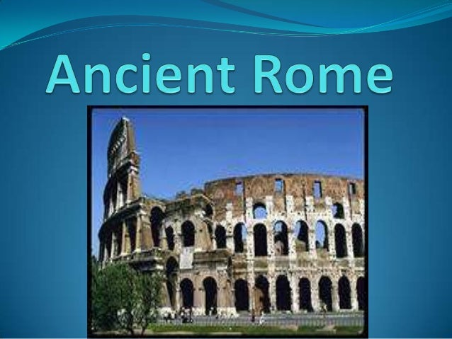  I was on a dig in ancient Rome.