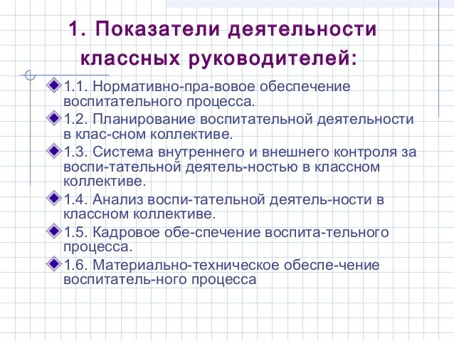 Анализ воспитательной