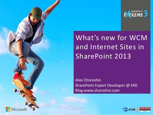 What's new for WCM and Internet Sites in SharePoint 2013