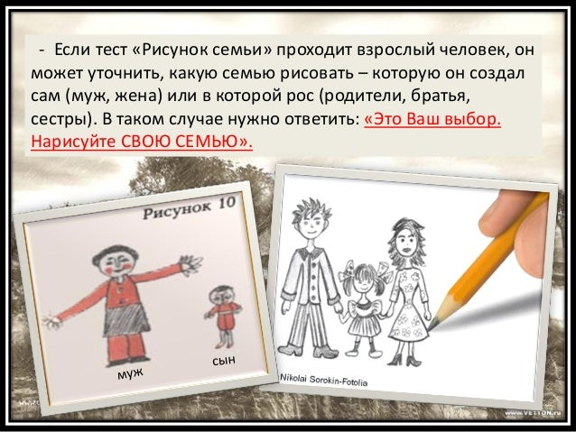 Если тест «Рисунок семьи»