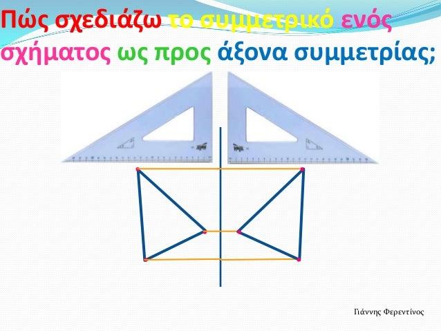 Πώσ ςχεδιάηω το ςυμμετρικό ενόσςχιματοσ ωσ προσ άξονα ςυμμετρίασ;Γιάννησ Φερεντίνοσ......