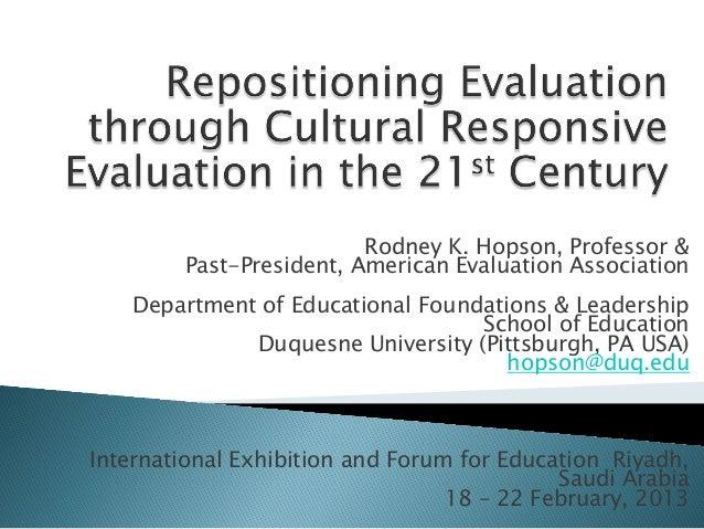 إعادة مرحلة التقويم من خلال التقويم الثقافي المتجاوب في القرن الحادي والعشرين