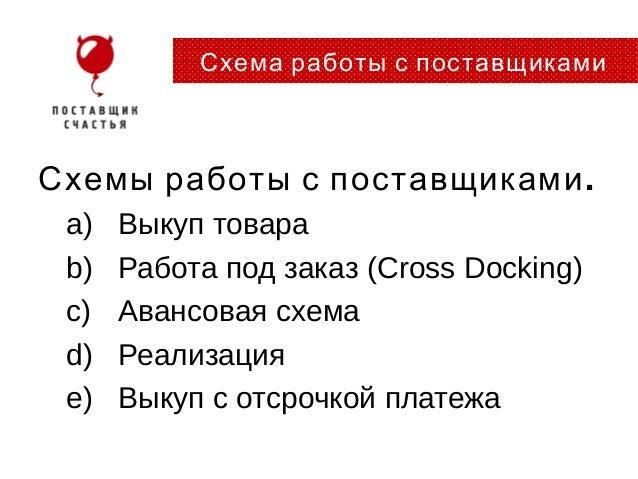 .Схемы работы с поставщикамиa)