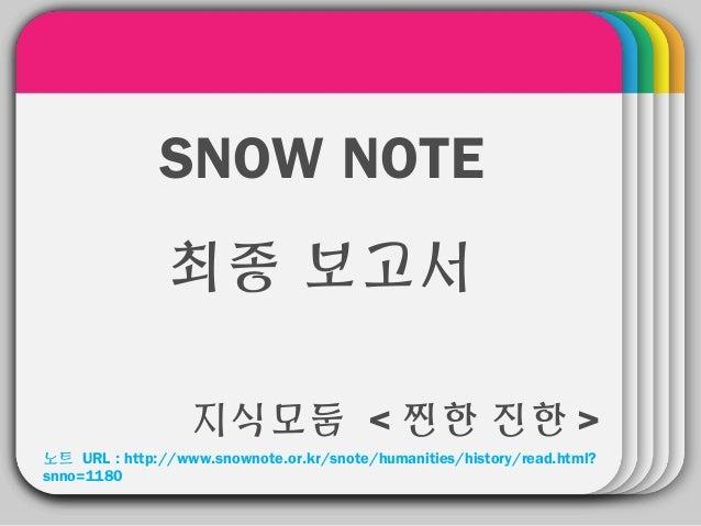 [SNOW 노트 지식모둠]찐한진한 최종보고서