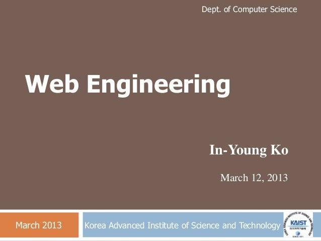 KAIST 웹 공학 연구실 소개(Web Engineering Lab.)