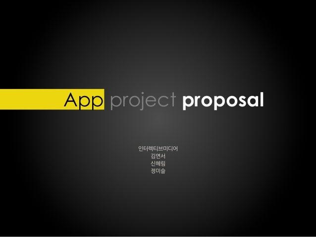 App project proposal