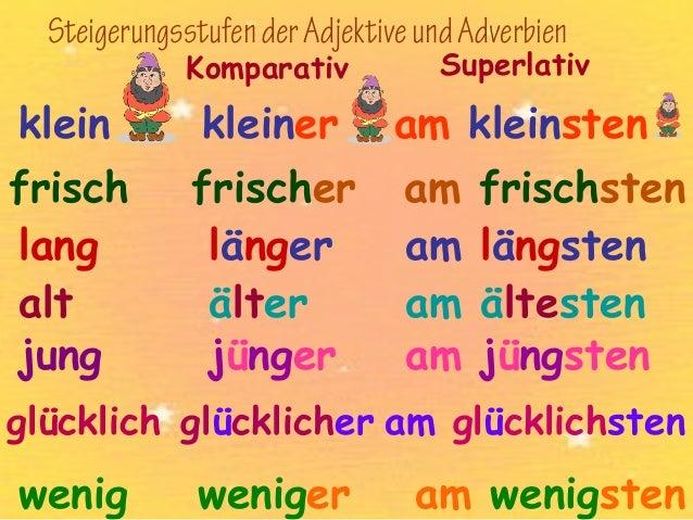 Adjektive  Sätze sentences Flashcards  Quizlet