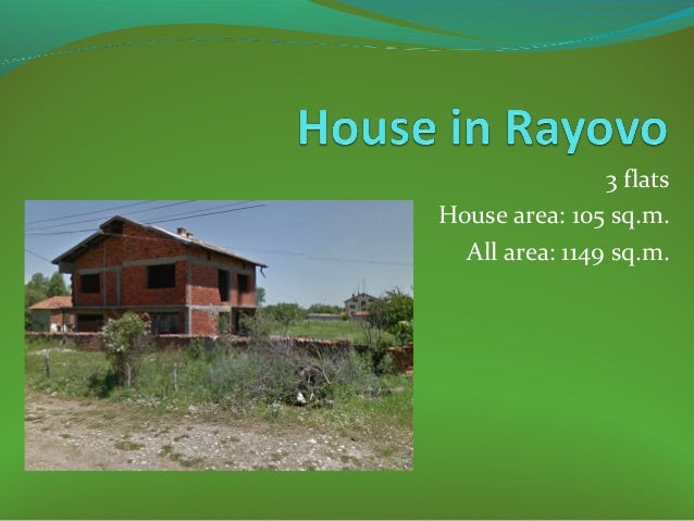 3 flats House area: 105 sq.m. All area: 1149 sq.m.