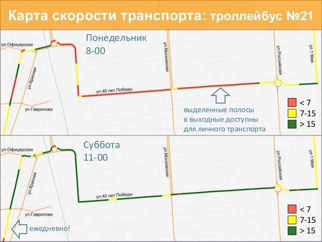 транспорта: троллейбус №21