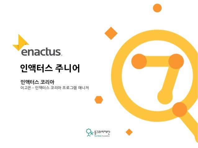 [동그라미재단] ㄱ찾기프로젝트 4차 공유회 : 인액터스 코리아
