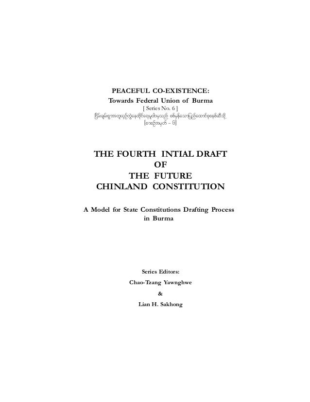 PEACEFUL CO-EXISTENCE: Towards Federal Union of Burma [ Series No. 6 ] +idrf;csrf;pGmtwl,SOfwJGaexkdifa&;rl0g'rSonf ppfrSe...