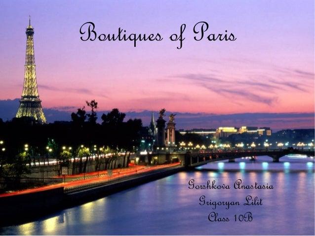 Boutiques of Paris