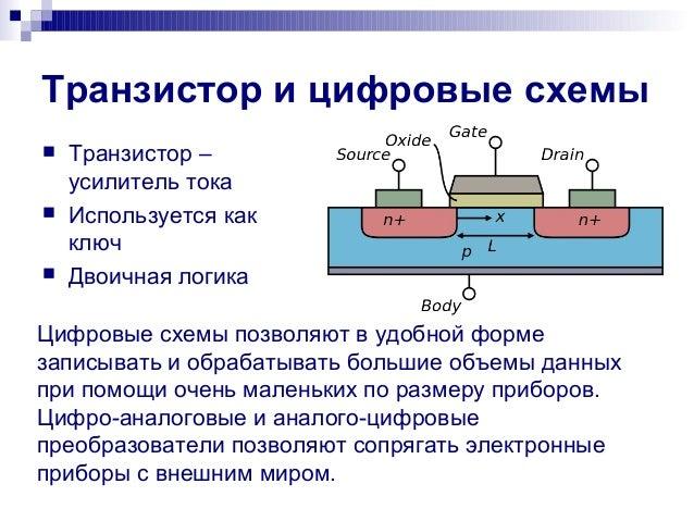 Транзистор и цифровые схемы