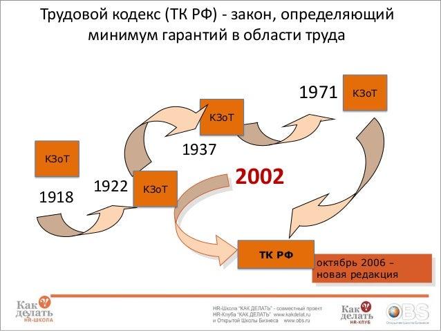 2 Трудовой кодекс (ТК РФ)