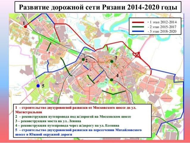 Развитие дорожной сети Рязани