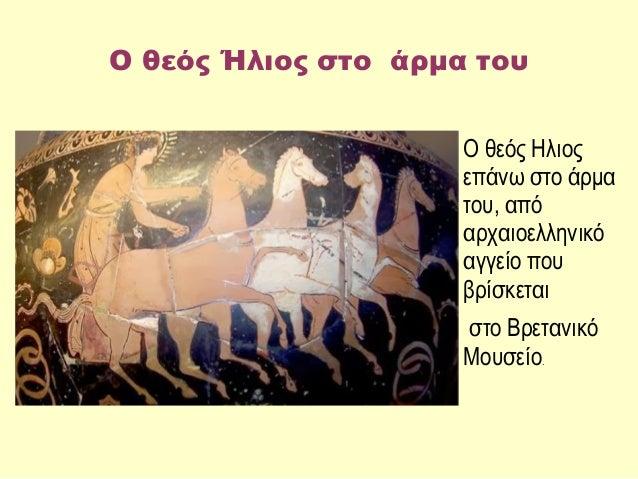 Αποτέλεσμα εικόνας για Ο Ήλιος  σε τέθριππο άρμα (Αρχαιοελληνικό αγγείο που βρίσκεται στο Βρετανικό Μουσείο).