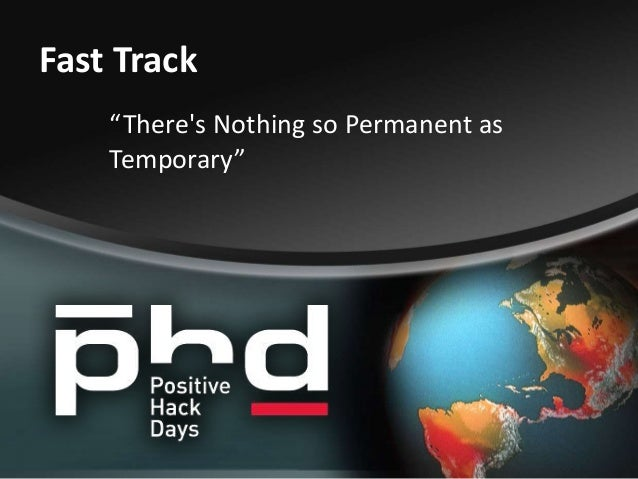 There's Nothing so Permanent as Temporary