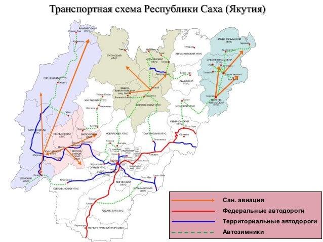 Транспортная схема Республики