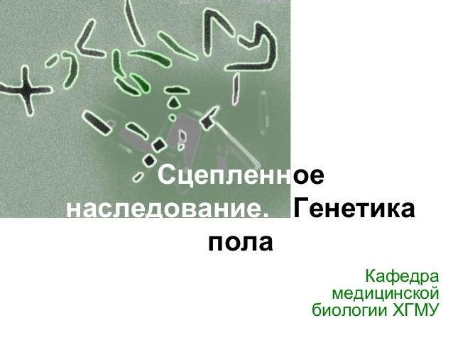 Генетика пола Кафедра