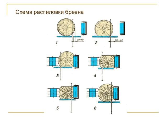 8. Схема распиловки бревна