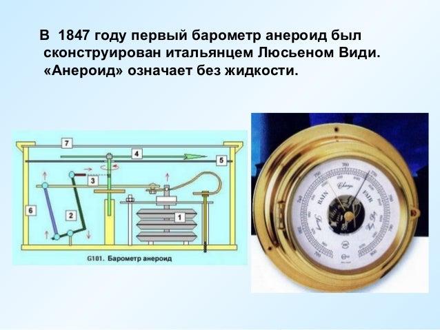 первый барометр анероид