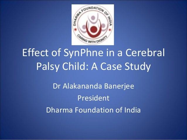 Cerebral palsy case study child
