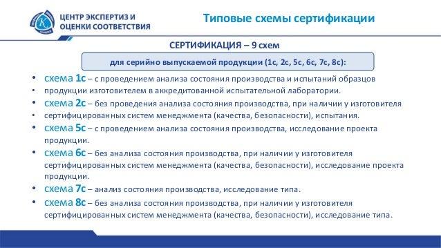 Типовые схемы сертификации для