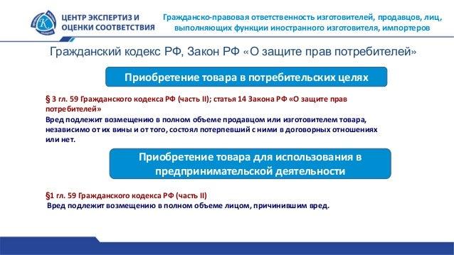 59 Гражданского кодекса РФ