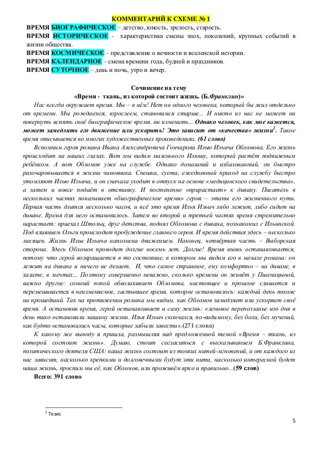 5 КОММЕНТАРИЙ К СХЕМЕ № 1