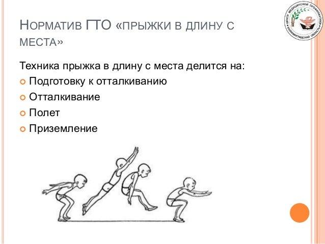 НОРМАТИВ ГТО «ПРЫЖКИ В ДЛИНУ С