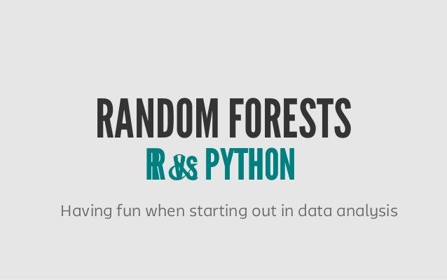 Random Forests R vs Python by Linda Uruchurtu