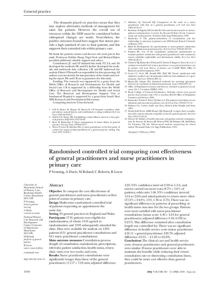 Randomised controlled trial comparing cost effectiveness