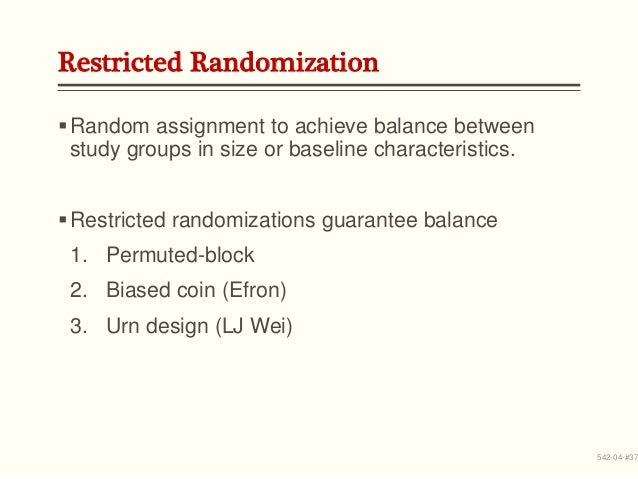 Random assignment minimizes