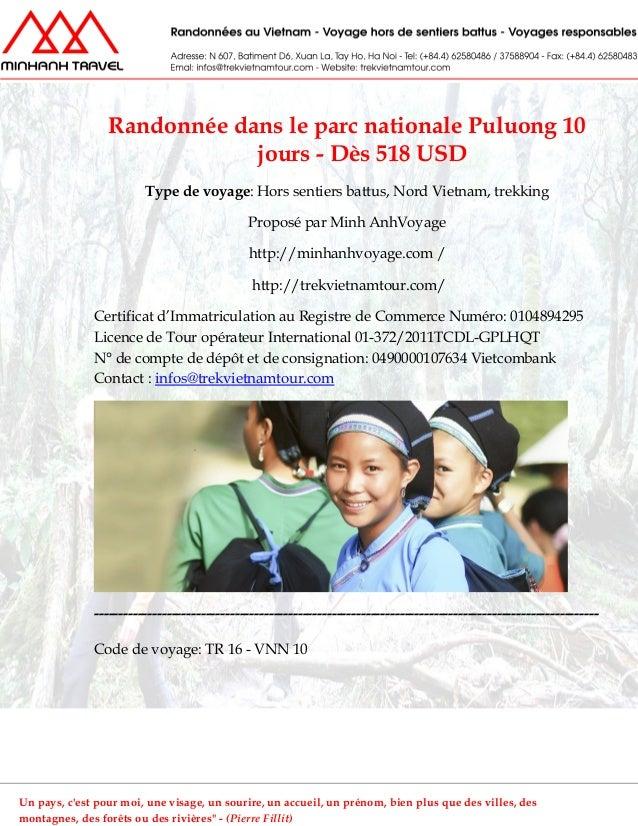Randonnée dans le parc nationale Puluong 10jours - Dès 518 USDType de voyage: Hors sentiers battus, Nord Vietnam, trekking...